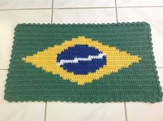 Tapete Croche Barbante Bandeira Brasil