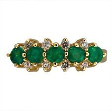 Lovely vintage emerald diamond ring! So stunning!