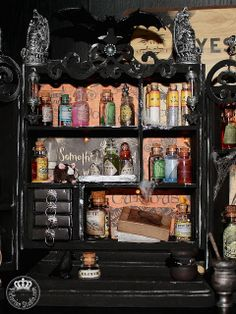 Halloween Apothecary - Part Six | Victorian Studio (the bottles in the middle section)