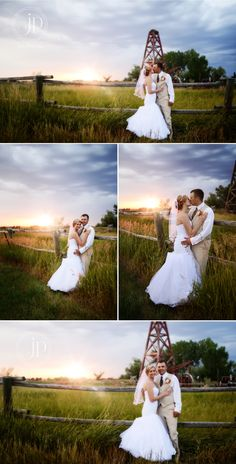Ashley and Michael! {Jen Petritz: Colstrip Wedding Photographer}  If only you could've been there...the sunset was fantastic!