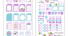 Planner stickers suitable for the mini happy planner and other personal size planners. #plannerstickers #plannerspread #plannerdecor