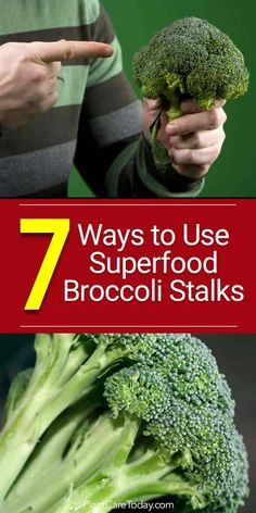 Broccoli stalks are fiber rich vitamins and minerals - A C E selenium folate choline copper zinc magnesium help detox the body [LEARN MORE] Growing Herbs, Growing Vegetables, Fruits And Veggies, Vegetable Side Dishes, Vegetable Recipes, Organic Gardening, Gardening Tips, Vegetable Gardening, Organic Soil