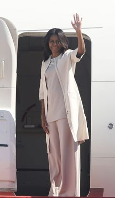 The first lady slayed in Narciso Rodriguez.