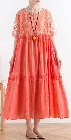 Cotton Long Dress, Cotton Dresses, Casual Summer Dresses, Summer Maxi, Long Dresses, Half Sleeve Dresses, Cotton Tunics, Diy Dress, Fashion Dresses
