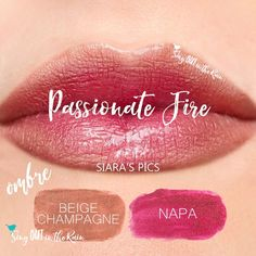 Learn to mix it up. Use LipSense Mixology to create this Passionate Fire Ombre LipColor by applying Beige Champagne and Napa in an Ombre fashion.  Click thru to purchase yours NOW! #lipsense #mixitup
