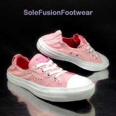 d4292dc0cb50 Converse Womens All Star Trainers Pink sz 6 Floral Shoreline Sneakers US 8  EU 39