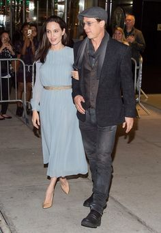 "Angelina Jolie and Brad Pitt at the By the Sea premiere. ""Repinned by Keva xo""."