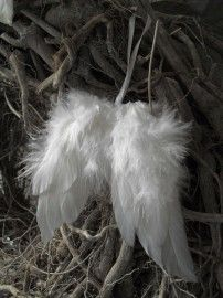 diyable white feather angel wing ornaments