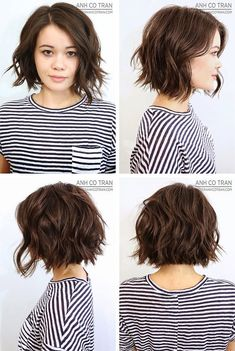 Wavy bob haircuts messy waves bob haircut for wavy hair shoulder length short ha. - Wavy bob haircuts messy waves bob haircut for wavy hair shoulder length short hairstyles for women - Layered Haircuts For Women, Haircuts For Wavy Hair, Short Hairstyles For Women, Simple Hairstyles, Medium Hairstyles, Messy Bob Hairstyles, Short Hair For Women, Hairstyles Men, Pixie Haircuts