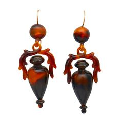 1STDIBS.COM Jewelry & Watches - Victorian Tortoise Shell Earrings - Park Place Antique Jewelry