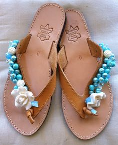Handmade Genuine Leather Ladies Sandals by ScreationsGR on Etsy Ladies Sandals, Palm Beach Sandals, Trending Outfits, Unique Jewelry, Handmade Gifts, Lady, Leather, Vintage, Hand Made Gifts