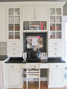 30 Functional Kitchen Desk Designs | Kitchen Desks, Kitchen Desk Areas And  Google Images