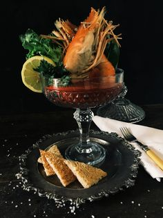My Prawn Cocktail with Raw Marie Rose sauce