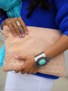 turquoise + blue accessories