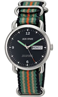 Jack Spade Men's WURU0133 Conway Stainless Steel Watch with Nylon Band Best Price