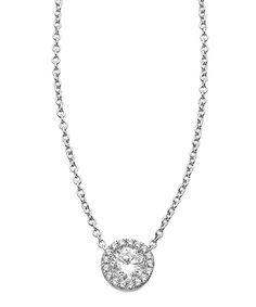 Lafonn Small Round Halo Pendant Necklace