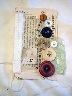 """late winter"" booklet page by the messy nest, via Flickr . . . I like the idea for a tag"