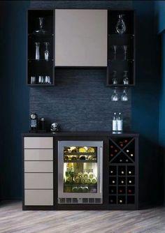 Modern coffee bar ideas (awesome coffe bar) #coffebar #bar #kitchen