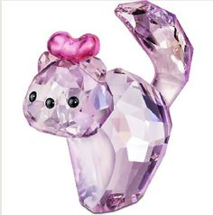 Katie the Swarovski Lovlots House of Cats Sweet Kitten.  Swarovski Crystal Figurine.