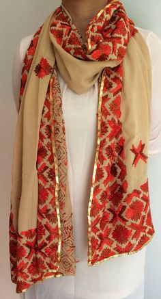 4fe71a66101 Kashmiri embroidered shawl stole scarf.....For more enquire please ...