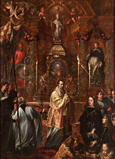 Pedro Ruiz Gonzalez - Carlos II ante el Sacramento, 1683