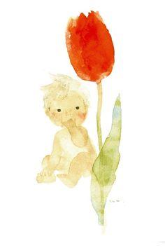 """""""Tulip and Baby""""  Chihiro Iwasaki,1971"""