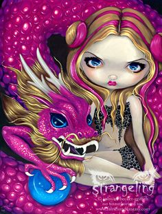 Shimmering Pink Dragon by Jasmine Becket-Griffith