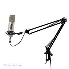 Pyle Adjustable Microphone Boom Scissor Arm Stand - Dual  $19
