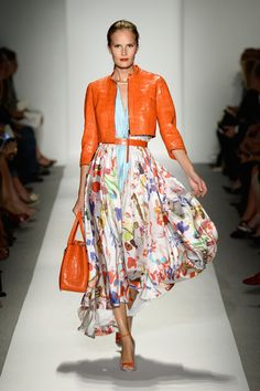 A model walks the runway at the Dennis Basso fashion show during Mercedes-Benz Fashion Week Spring 2014 on September 10, 2013 in New York Ci...