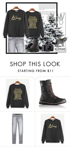 """""""Romwe.Wild nature."""" by natalyapril1976 on Polyvore featuring White Label, SOREL, Karl Lagerfeld, contest, set and romwe"""