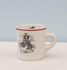 Vintage Shenango China Mary Had a Little Lamb Mug by HauteVintageMarket on Etsy