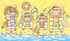 Happy family at the seaside, vector drawing for children by Optimistic Kids Art (Katerina Davidenko illustration) Family Drawing, Drawing For Kids, Art For Kids, Beach Cartoon, A Cartoon, Cartoon Family, Happy Family, Happy Kids, Cartoon Sketches