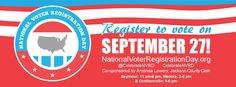 THIS PROGRAM HAS EXPIRED -- Register to vote at the Seymour, Medora or Crothersville Library on September 27!