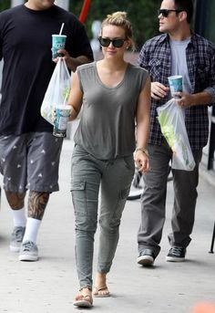 J Brand Houlihan Skinny Cargo Pants in Vintage Olive and many Colors - as seen on Hilary Duff