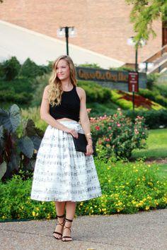 Music Chicwish Midi Skirt | Upbeat Soles | Florida Fashion Blog