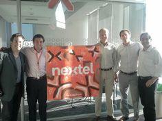 ¡Gracias por recibirnos!  Matias Vidaurre, Juan Oyarzabal y Sebastian Rodriguez de Nextel Chile junto a Matías, CEO de Latin3, y Javier, Country Manager Chile de Latin3.
