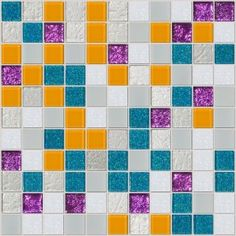 Miami - Stunning glass tile mosaic with South Beach flavor! Dichroic, glitter, mirror, and metallic tiles make this blend a perfect unique backsplash! $41.74