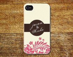 Personalized phone caseName phone caseCream by Mycovercase on Etsy, $15.00