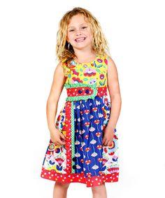 Love this Blue Picnic Sally Dress - Infant, Toddler & Girls on #zulily! #zulilyfinds