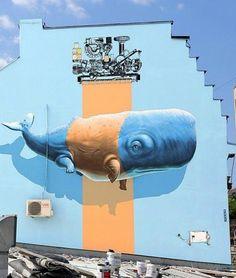 Street Art by NeverCrew in Belgrade #art #arte #mural #streetart