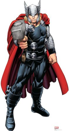 Complete your Avengers party supplies with our Thor Life-Size Cardboard Cutout. This Thor cutout is great for DIY photo booths and Avengers party decorations. Odin Marvel, Marvel Comics, Marvel Avengers Comics, Marvel Avengers Assemble, Marvel Heroes, Avengers Cartoon, Avenger Party, Comic Book Characters, Marvel Characters