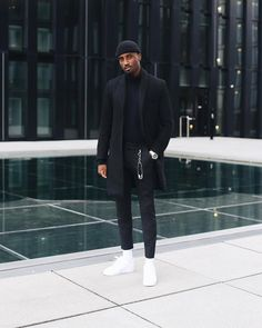 47 Adorable Mens Fashion Styles Ideas For Men Looks More Cool Winter Outfits Men, Stylish Mens Outfits, Summer Outfits, Black Outfit Men, Black Mens Clothes, All Black Clothing, Black On Black Outfits, All Black Men, Male Clothing