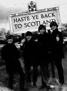 The Beatles in Scotland October of 1964