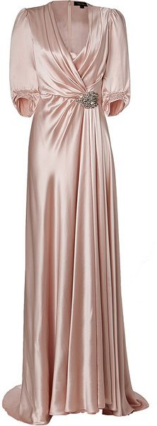 Jenny Packham Silk Gown in Sugar in Pink