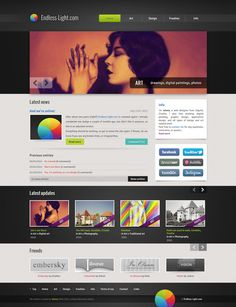 Endless-Light.com 2012 by *jelena-c #webdesign #layout (Gallery style top and sale items bottom?)