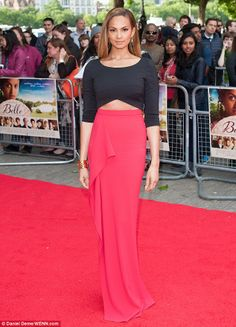 Elegant: Alesha Dixon looked stunning as she arrived at the premiere of Belle at the BFI S...