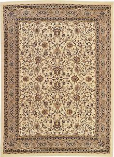Ivory 9u0027 10 X 13u0027 Kashan Design Rug | Area Rugs | ESaleRugs