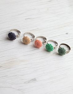 Love these rings. And could get a little Captain Planet theme going with 4 of your best friends!
