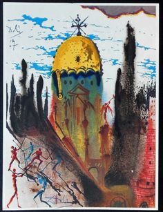 PIC BY LOCKPORT STREET GALLERY / CATERS NEWS - (PICTURED: RARE DALI ILLUSTRATION) - A rare set of illustrations by surrealist painter Salvad...