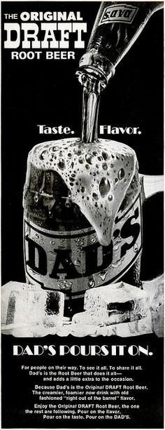 Dad's Root Beer Gives You Both Taste and Flavor (1971) by MewDeep, via Flickr